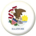 Illinois State Flag 58mm Mirror Keyring